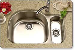 Houzer MG-3209SR Medallion Designer 80/20 Double-Bowl Undermount Kitchen Sink