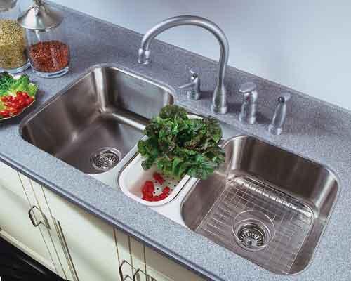 houzer mgt 4120 medallion gourmet triple bowl undermount kitchen sink - Kitchen Basin Sinks