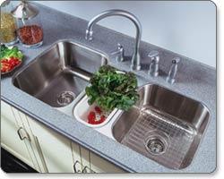Charmant Houzer MGT 4120 Medallion Gourmet Triple Bowl Undermount Kitchen Sink