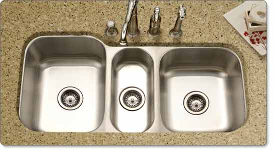 Triple Bowl Kitchen Sinks Houzer mgt 4120 1 medallion gourmet series undermount stainless mgt 4120 medallion gourmet triple bowl undermount kitchen sink workwithnaturefo