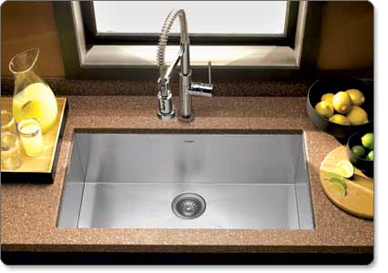 Houzer CTG Contempo Gourmet Undermount Large Single Bowl - Houzer kitchen sink