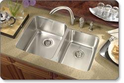 Houzer MES-3221 Medallion Gourmet 60/40 Double-Bowl Undermount Kitchen Sink