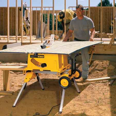 Dewalt dw744xrs 10 inch job site table saw with rolling stand dewalt 10 inch job site table saw greentooth