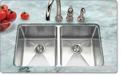 Houzer NOD-4200-1 Nouvelle 50/50 Double-Bowl Undermount Kitchen Sink