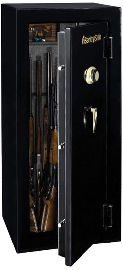 Amazon.com: SentrySafe GM1459C Combination Lock Fire Safe, 14-Gun ...