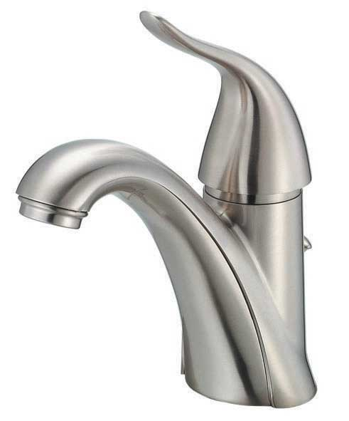 single handle lavatory faucet brushed nickel touch on bathroom sink