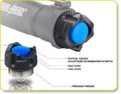Brite Strike Hi/Lo/Strobe Rechargeable LED Flashlight (BDRC-HLS)