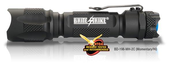 BRITE-STRIKE BD-198-MH-2C Black LED Handheld Flashlight Lithium 123A 450lm