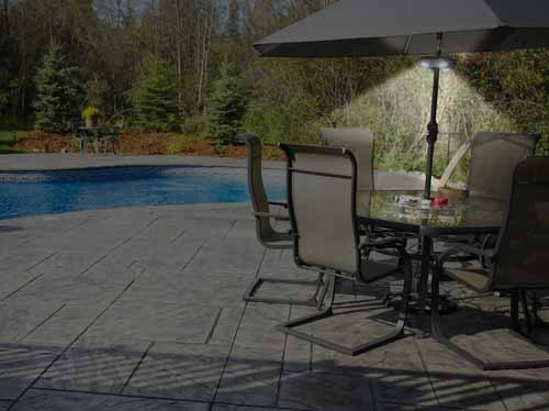 The Umbrella Light Is Ideal For Evening BBQs And Patio Parties That Go Late  Into The Night.