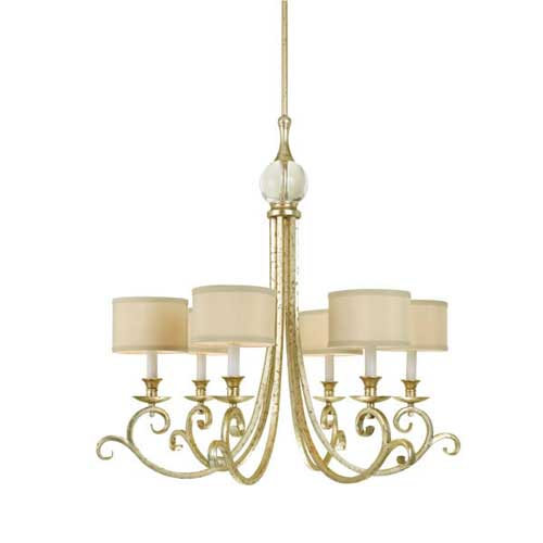 Candice Olson Traditional Living Rooms: AF Lighting 7901-6H Lucy 6-Light Chandelier