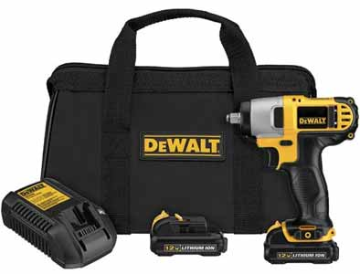 DEWALT 12-Volt Max 3/8-Inch Impact Wrench Kit