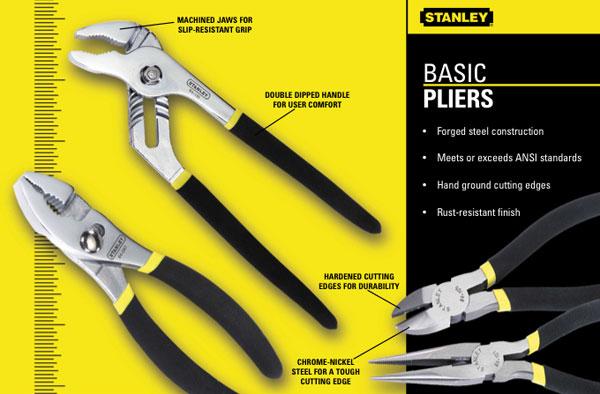 "Stanley MaxGrip Adjustable Width Needle Nose Pliers 7/"""