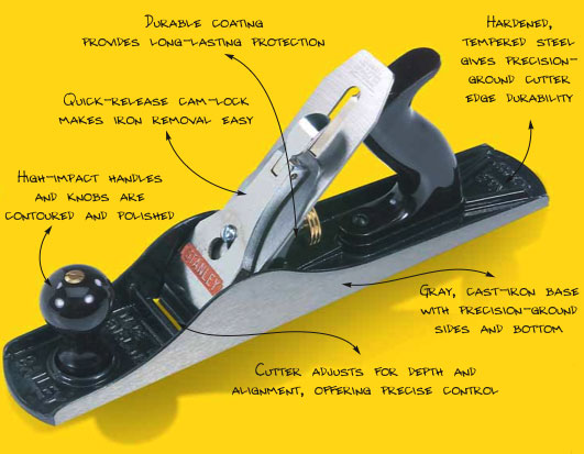 Stanley 12 404 No 4 Adjustable Bench Plane With 2 Inch Cutter