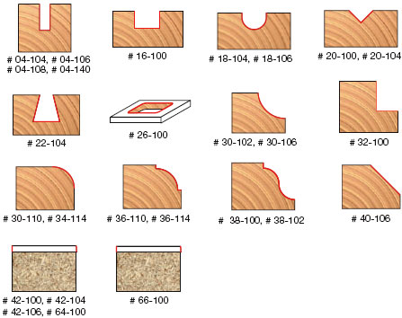 Freud 92 100 26 Piece Router Bit 1 4 Inch Shank Set Edge