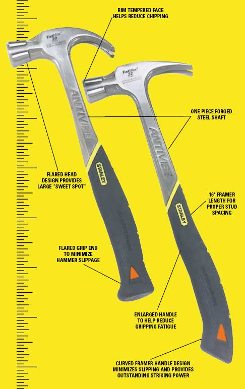 You can also learn more about AntiVibe technology. Stanley FatMax 51 944 20 Ounce AntiVibe Rip Claw Nailing Hammer