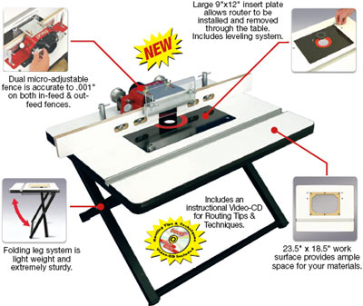 Freud rtp1000 ultimate portable router table 18 12 inch x 23 12 the ultimate portable router table is packed with performance features greentooth Images