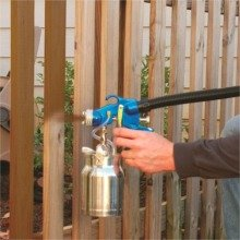Earlex HV5500 spraying fence