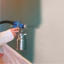 Spraying walls with HV6900