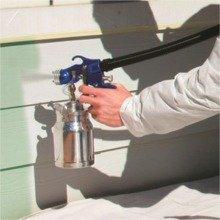 Spraying exterior siding with HV6900