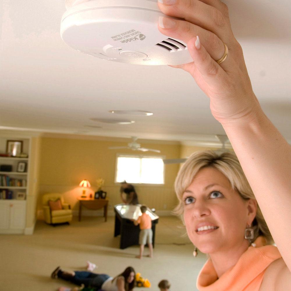 kidde kn cosm iba hardwire combination smoke carbon monoxide alarm with batte. Black Bedroom Furniture Sets. Home Design Ideas