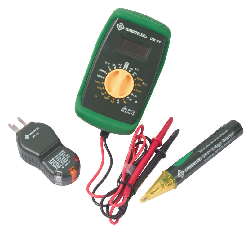 greenlee tk 30 basic electrical kit voltage testers amazon com rh amazon com residential wiring test tulsa welding quiz Wireless Receptacle Tester