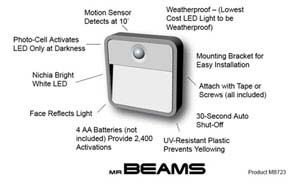 Mr. Beams MB723 LED Night Light