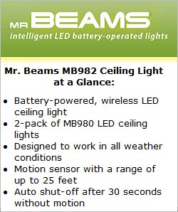 Mr Beams MB 982 Ceiling Light at a Glance