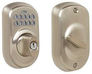 Schlage Be365 V Ply 716 Plymouth Keypad Deadbolt Aged