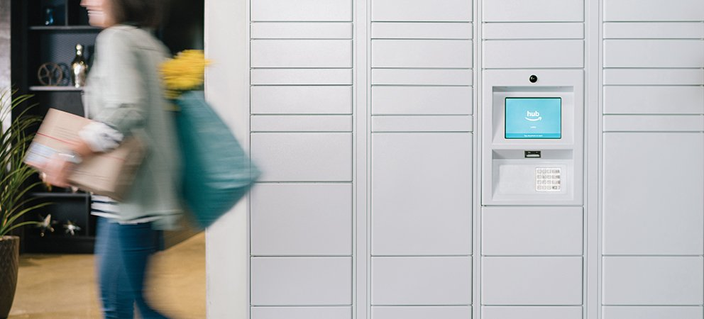 Hub by Amazon Package Lockers