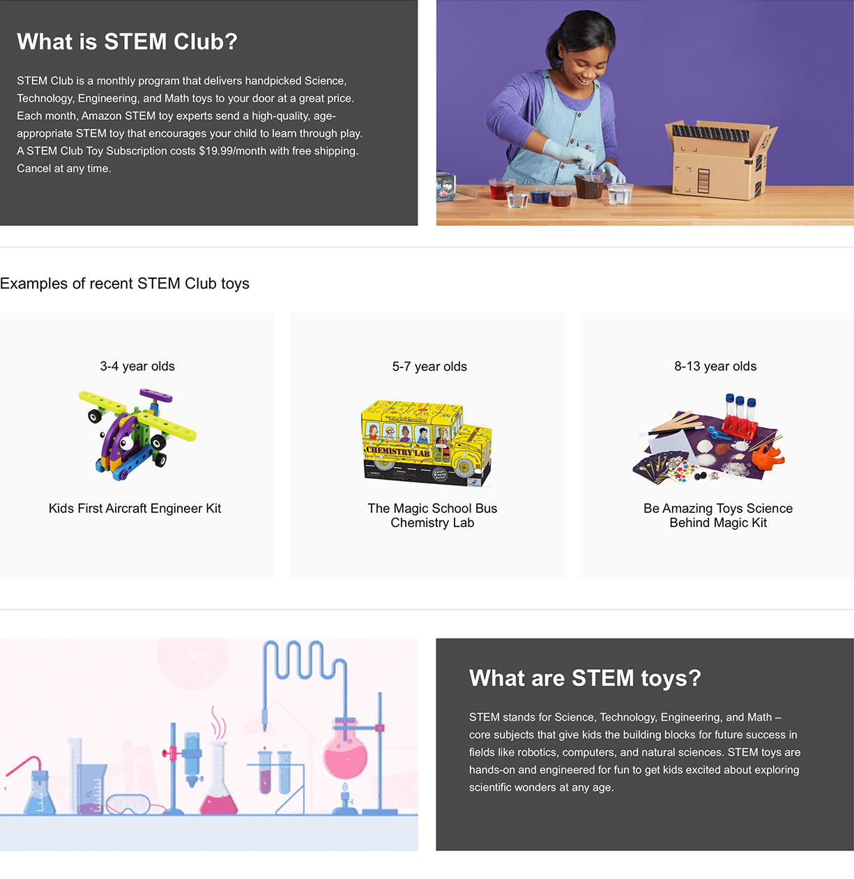 Amazon.com: STEM Club Toy Subscription: 3-4 year olds