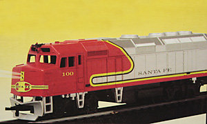 F40PH Santa Fe diesel locomotive