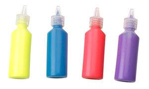 Bottles of Spinner Paint