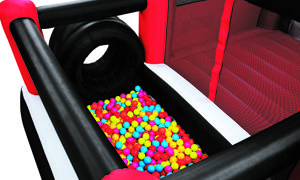 Rock Crawler Inflatable Combo with Slide and Ball Pit by Blast Zone