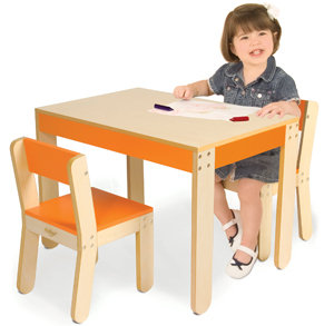 Amazoncom Pkolino Little Ones Table and Chairs Orange Baby