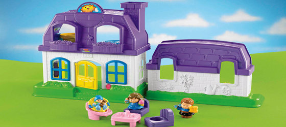 Amazon Com Fisher Price Little People Happy Sounds Home