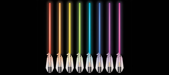 Amazon Com Star Wars Science Multicolor Lightsaber Room