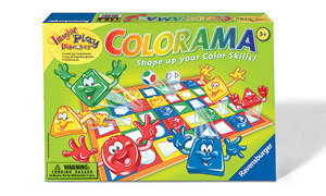 Colorful matching game for preschoolers!