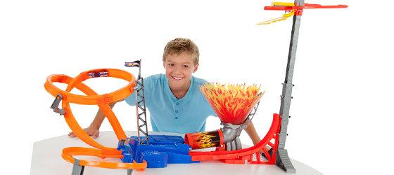 Boy with track set