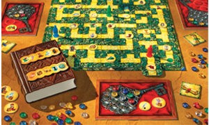 Colorful board game with high-quality content and electronic book.