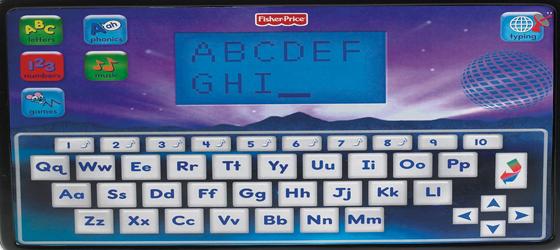 Alphabet screen