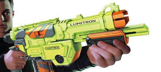A detailed image of NERF VORTEX LUMITRON