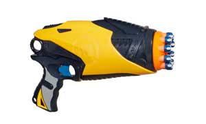 A detailed image of NERF DART TAG TAG OR BE TAGGED! SPEEDSWARM Blaster