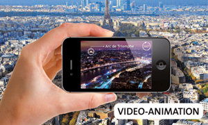 1000 piece puzzle of Paris comes alive with Augmented Reality technology.