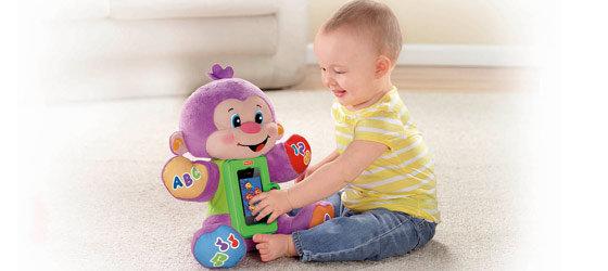Baby and monkey