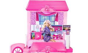 Barbie Dolls 2 Story Glam Vacation Doll House Dollhouse Furniture Playset Pink