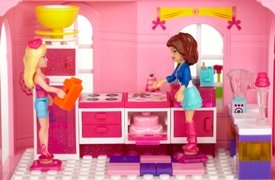 Barbie and Teresa in the kitchen
