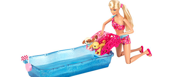 Barbie Swim And Race Pups Playset Toys Games