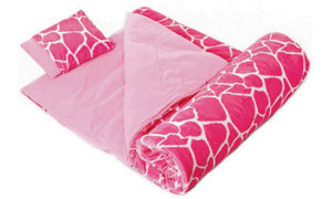 Wildkin Plush Sleeping Bags are made with a two-sided zipper to make it easier to snuggle up inside!