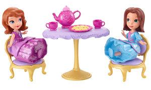 dolls and tea set