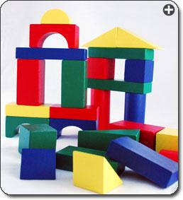 Buy Melissa Doug 481 Wood Blocks Set 100 Piece Multi Color